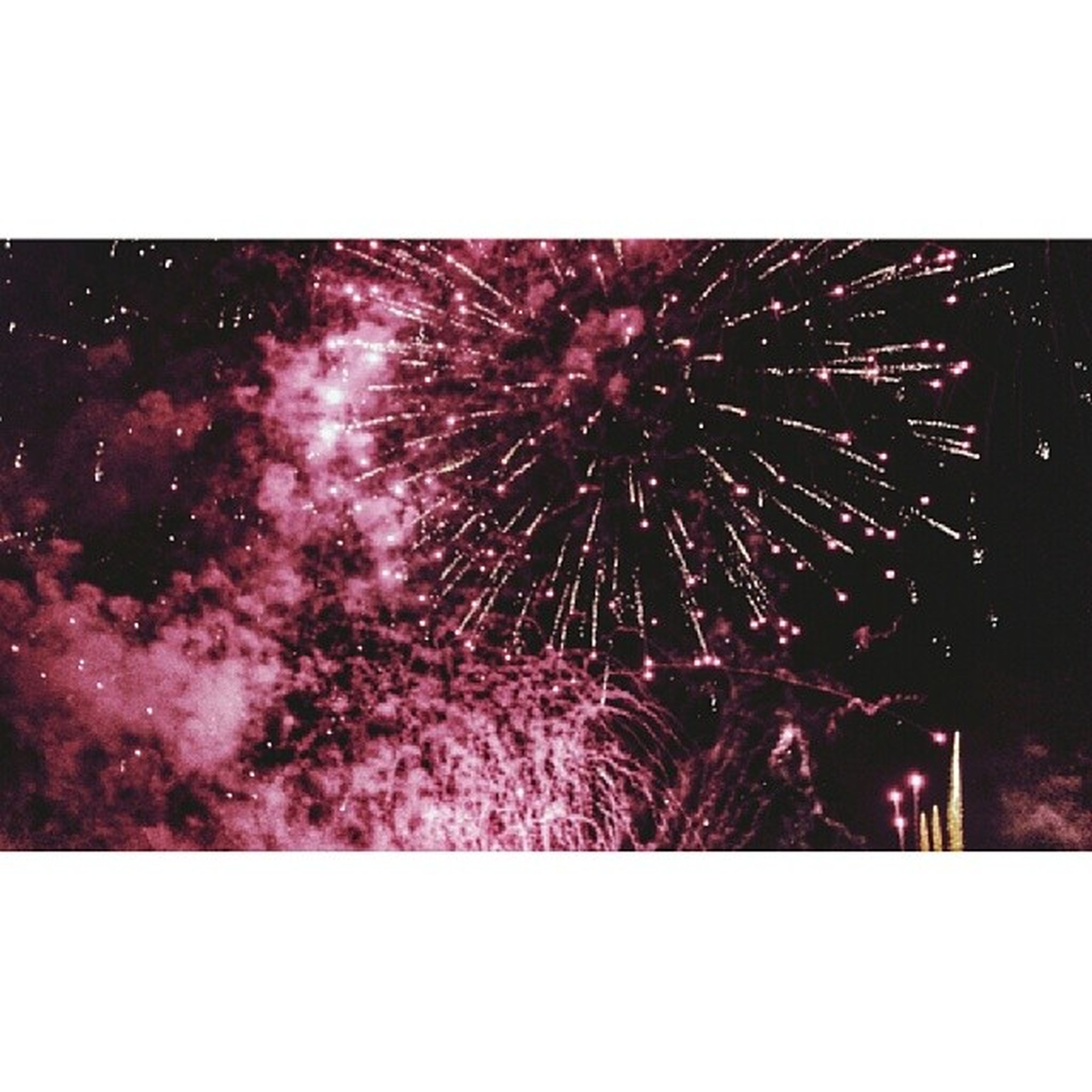 transfer print, night, illuminated, arts culture and entertainment, firework display, celebration, exploding, firework - man made object, auto post production filter, event, motion, sparks, long exposure, blurred motion, glowing, low angle view, entertainment, sky, firework, outdoors