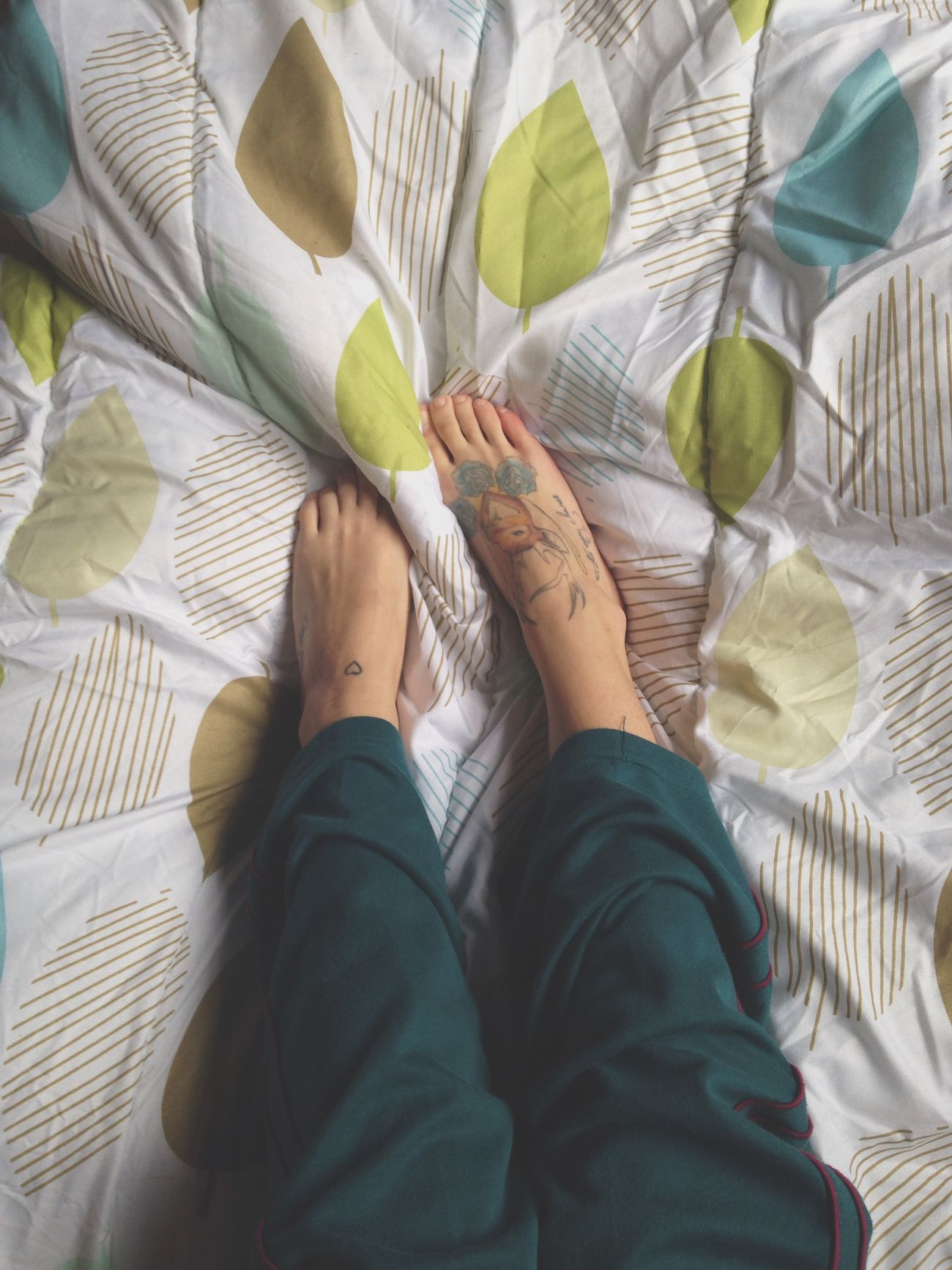 Feet Tattoo Inked Inkedgirls Bed Comfy  Cold Cute Thehumancondition Thehumanbody
