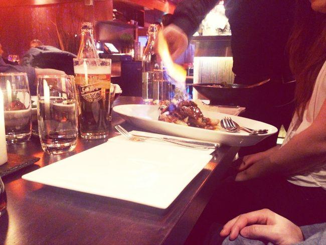 Beef Beer Food Fire