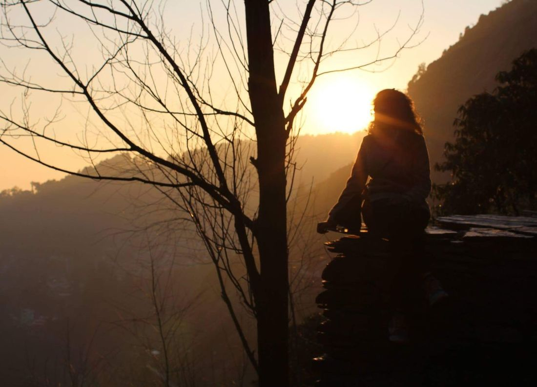 Lost in the serenity of mountains! Mcleodganj ShivaCafe Dharamshala Peace Tranquility Love Mountains Sunset Evening Himalayas Kangra