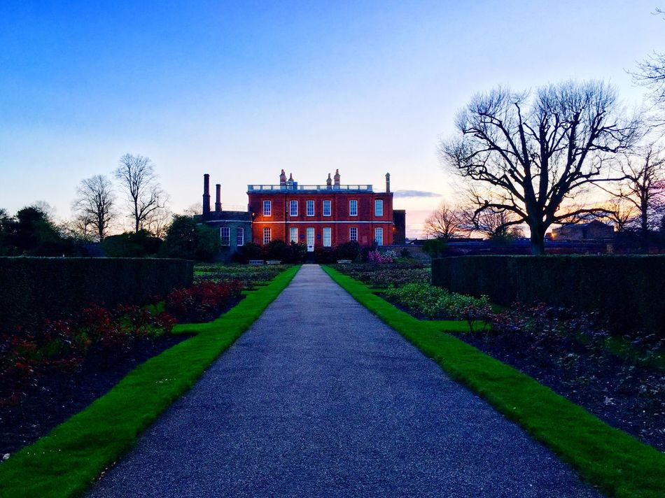 Rose Garden Greenwich Park London Spring Sunset Architecture Nature Clear Sky Outdoors Building Exterior Sky