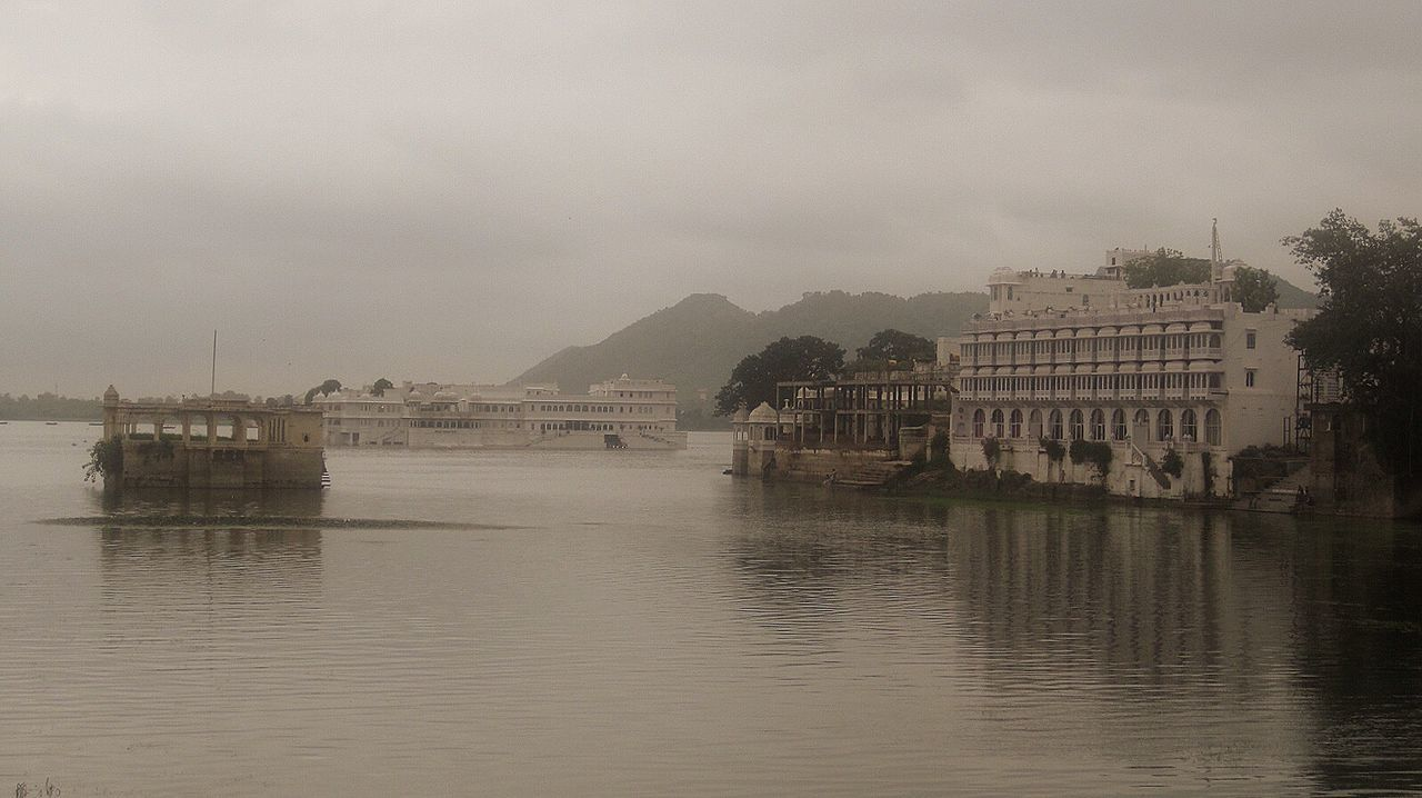 My Year My View Architecture Architecture_collection Scenics Lake Lake View Amazing Architecture Places Lake Palace Udaipur Rainy Days Grey Sky Water EyeEm Best Shots EyeEm Gallery The City Light The Calmness Within The Calm Before The Storm