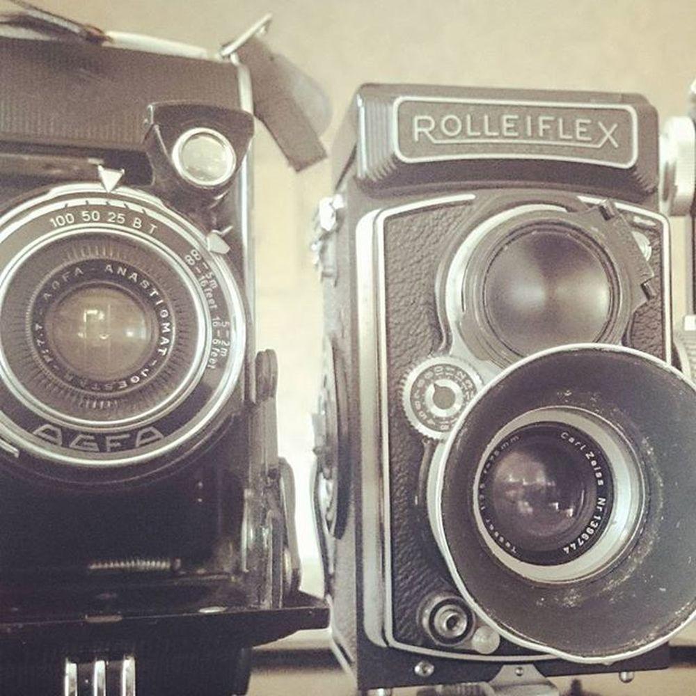 Oldschool cameras 😍 Oldschool Retro Vintage Camera Roleiflex Agfa XPERIA Xperiaphotoacademy SonyExperiaZ1Compact Xperiaz1compact Lieblingsteil