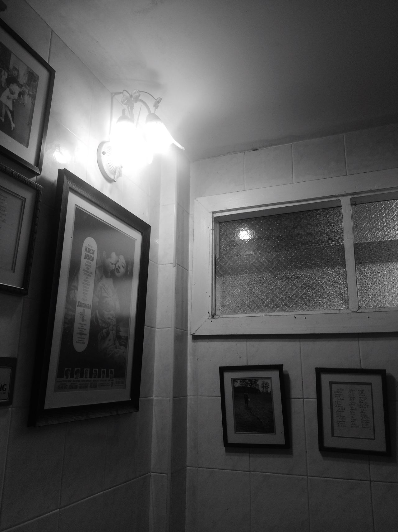 Picture Frame Lighting Equipment Illuminated Indoors  No People Low Angle View Architecture Night Coffee Time Black & White Vintage Style Store Window