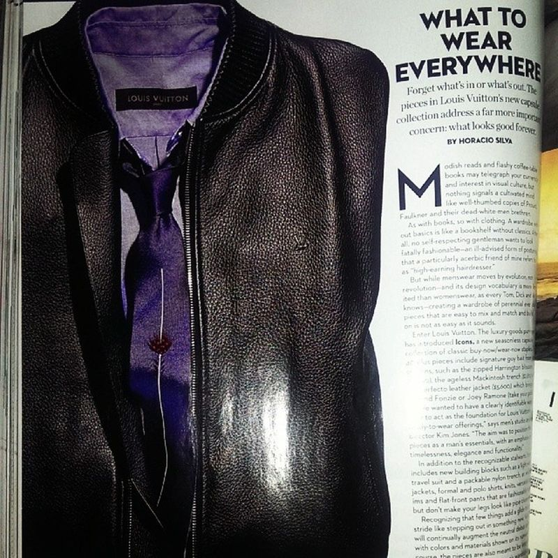 Now that's a mixed leather Blouson from Louisvuitton that I'd like to own,from the 40 plus piece Icons collection and it's just timeless right down to the feather tie :)