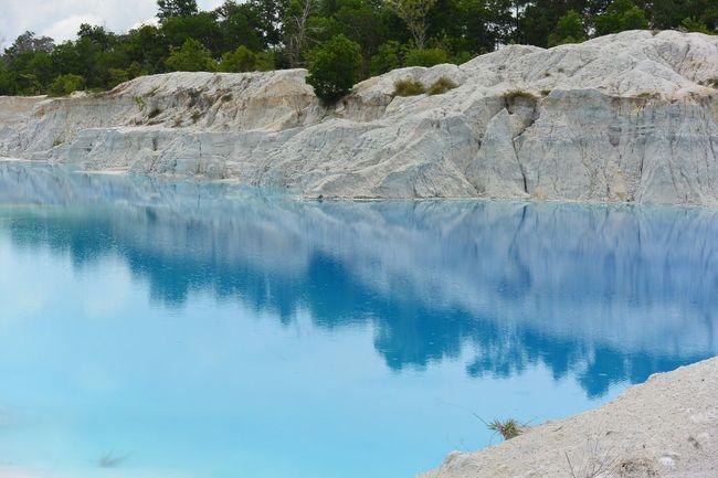 Danau Lake Kaoline Kaolin Bangka Island Blue INDONESIA Wonderfulindonesia