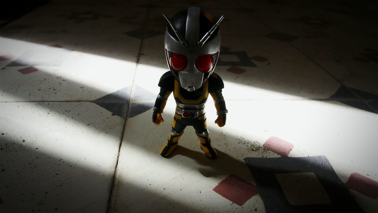 ...here comes the sun Creative Light And Shadow Kamen Rider Black Rx Roborider Wcf Tegel Flooring Toy Photography Getting Competitive Indonesia_allshots Interior Design INDONESIA
