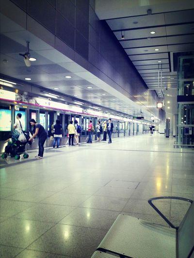 Public Transportation Taking Photos Subway