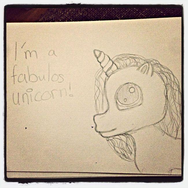 I'm a fabulos unicorn! Fabulos Unicorn Drawing MyLittlePony