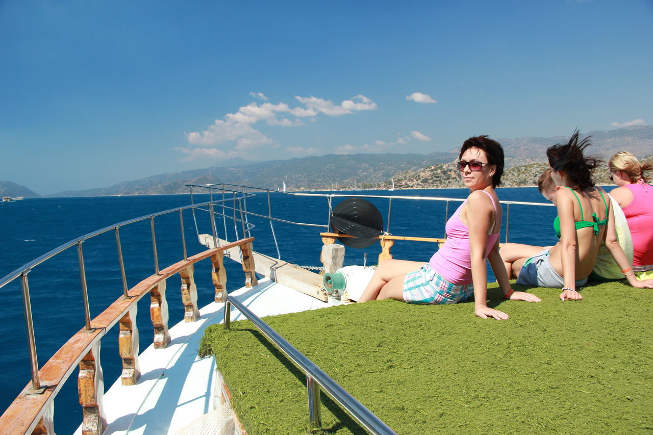 Tourist People Colors Landscape Sea And Sky Beauty In Nature Turkey Boat Gerl Clear Sky Sea
