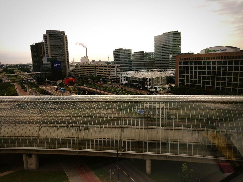 Amsterdam Sloterdijk Train Station View From Restaurant MercureHotel