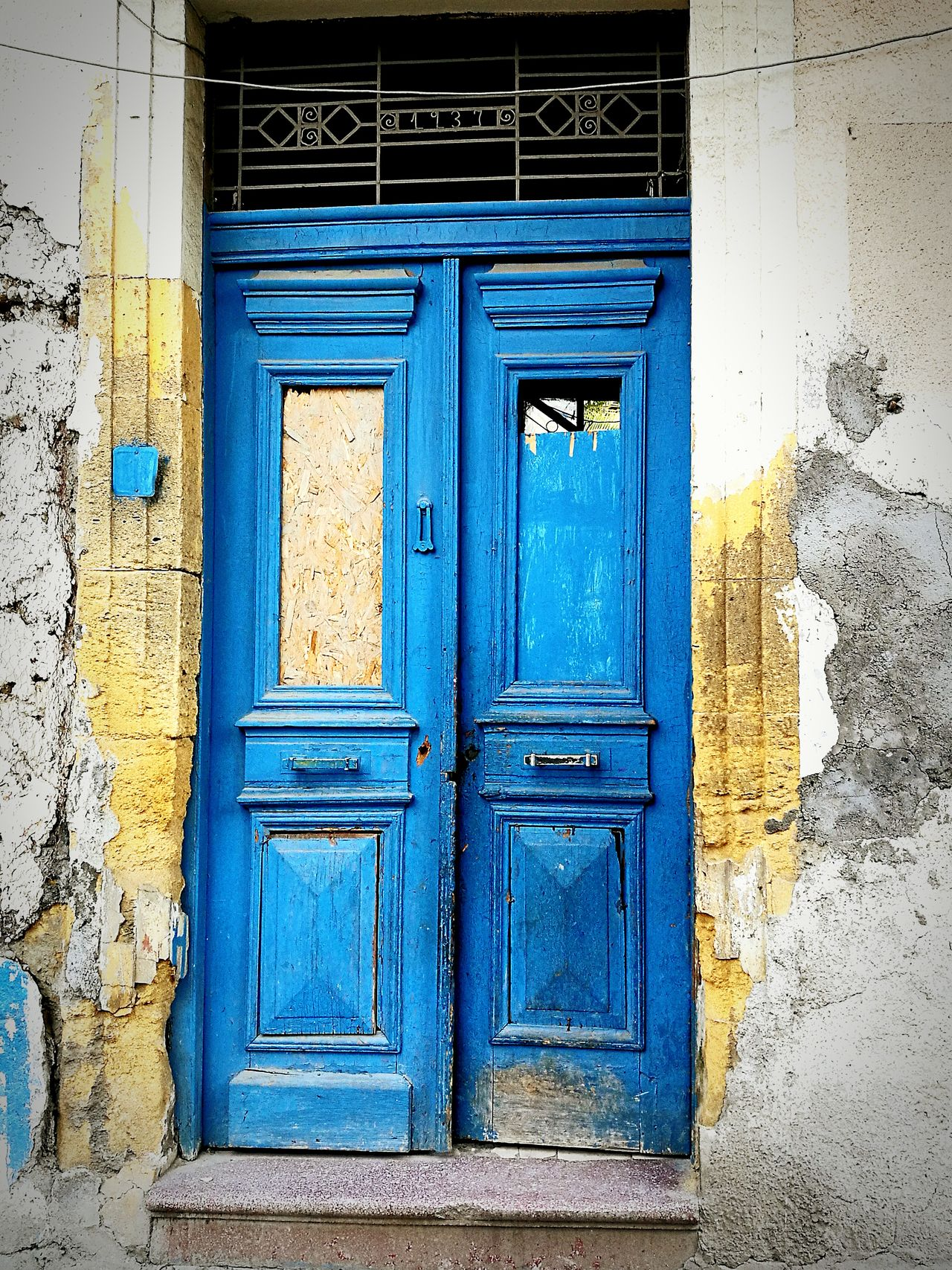 Door Blue Closed Built Structure Outdoors Architecture Day Building Exterior No People House Entrance Lefkoşa Nicosia Turkey Architecture