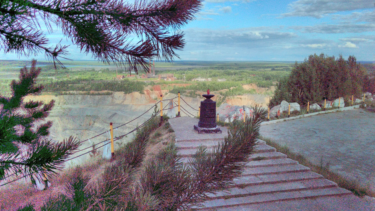 Day Kushva Memorial Monument Mountain Nature No People Outdoors Pine Tree Quarry Russia Sky Ural