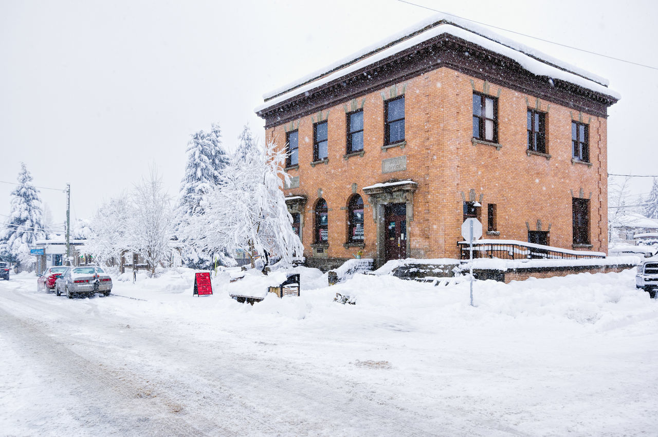 Architecture Building Exterior Built Structure Cold Temperature Day Nature No People Outdoors Sky Snow Snowing Tree White Color Winter