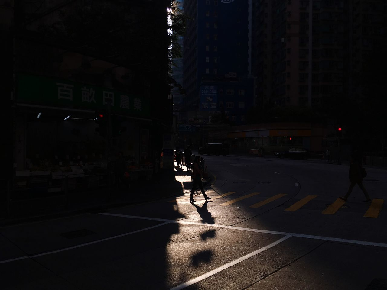 Street Full Length Night Real People Transportation Built Structure Rear View Architecture City Illuminated One Person Land Vehicle Building Exterior Outdoors Men Silhouette Shadows The City Light