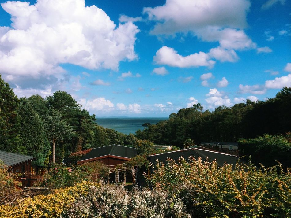 View from the cabin in Saundersfoot. Saundersfoot Wales Sea Log Cabin