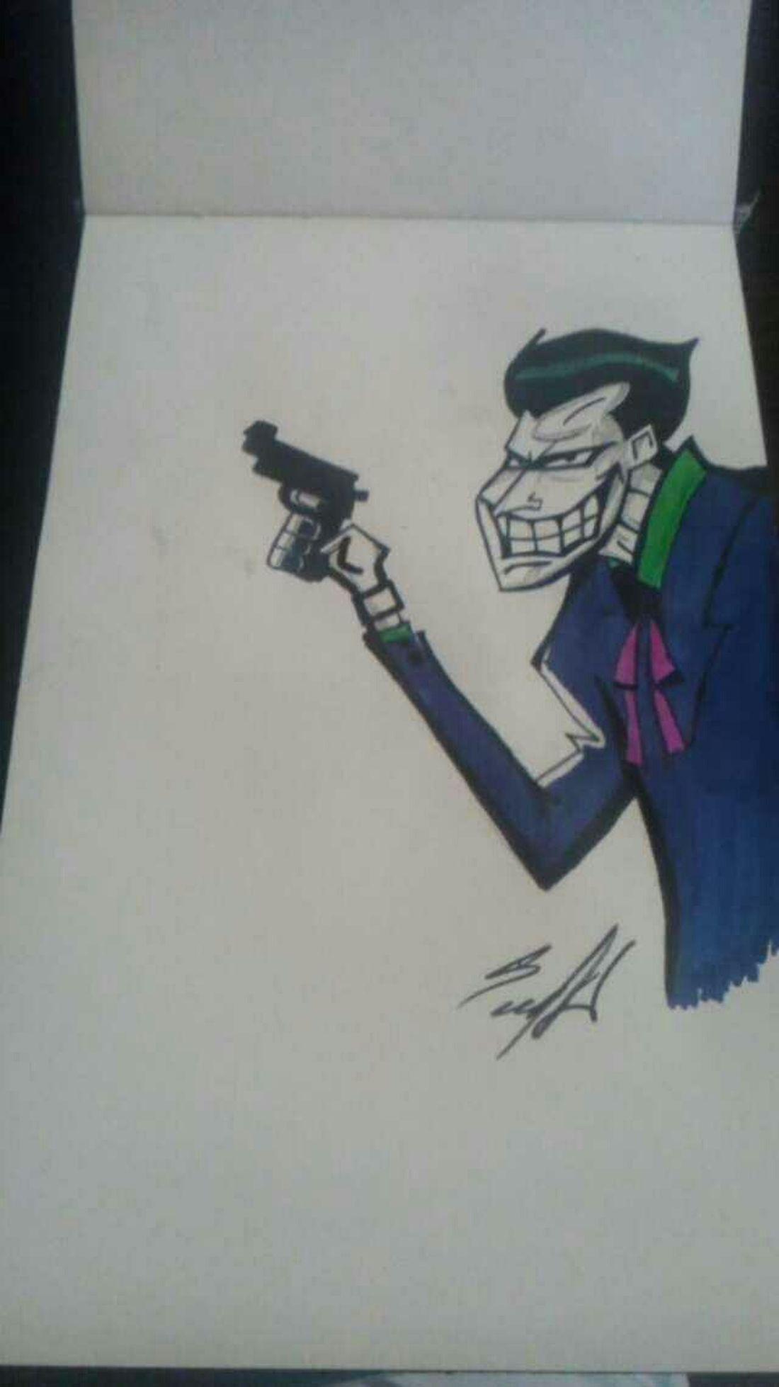 Drawing The Joker THE JOKER.............