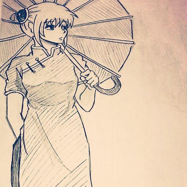 Anime Comic Gintama Kagura Illust 漫画 銀魂 神楽 絵