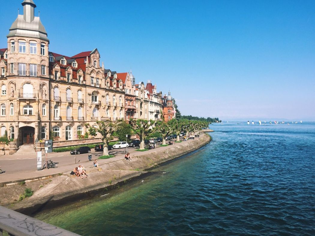 Architecture Water Clear Sky Built Structure Building Exterior Sea Day Travel Destinations Blue Outdoors Large Group Of People Nature Animal Themes Sky People EyeEmNewHere EyeEm Selects Lakeconstance