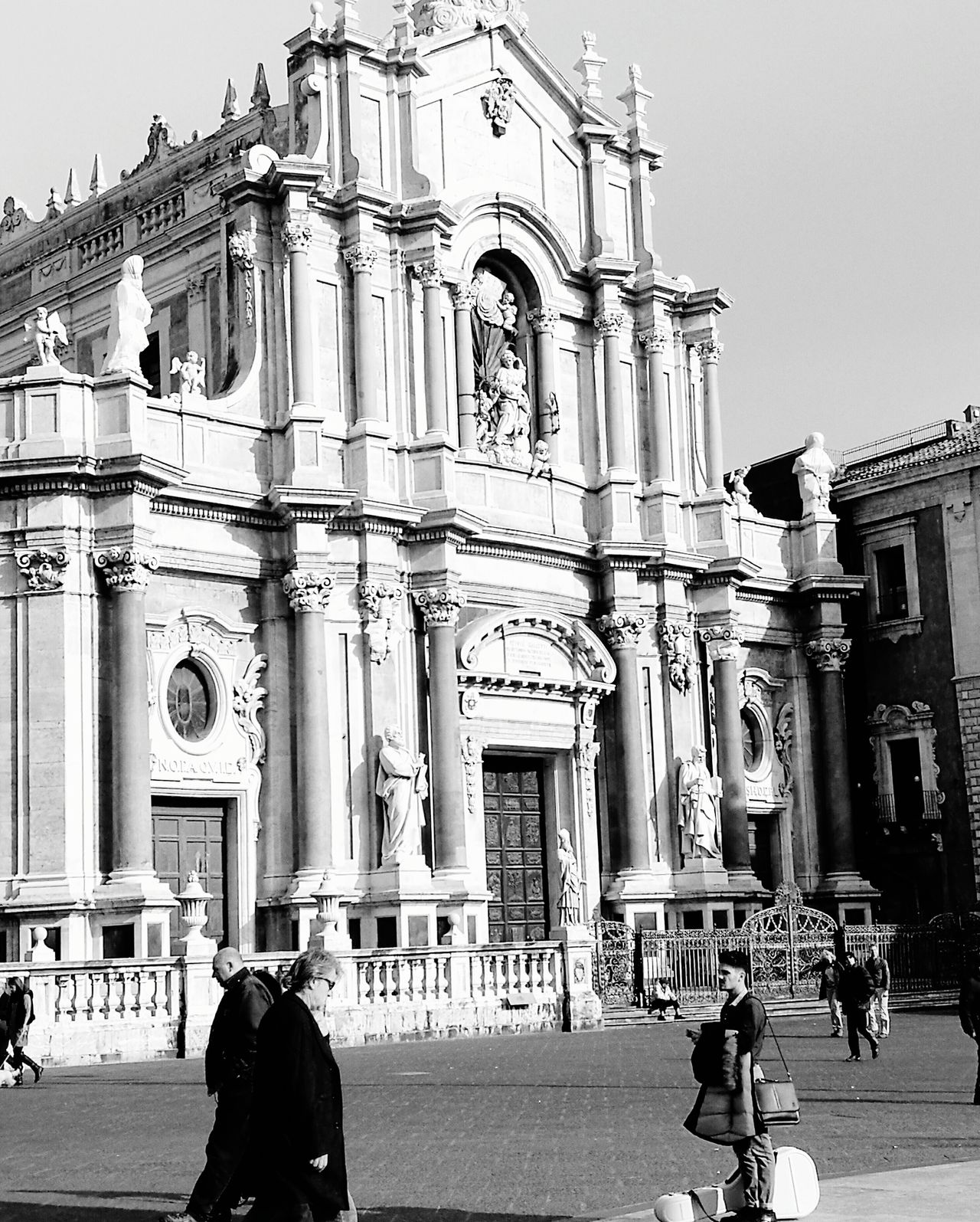 Church..Catania (Sicily) Building Exterior Architecture Real People Built Structure History Outdoors Travel Destinations People Day City