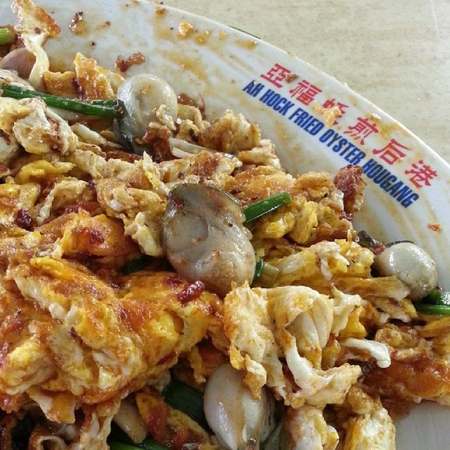 Extremely yummilicious oyster omelette (orh neng) from Ah Hock Fried Oyster Hougang!