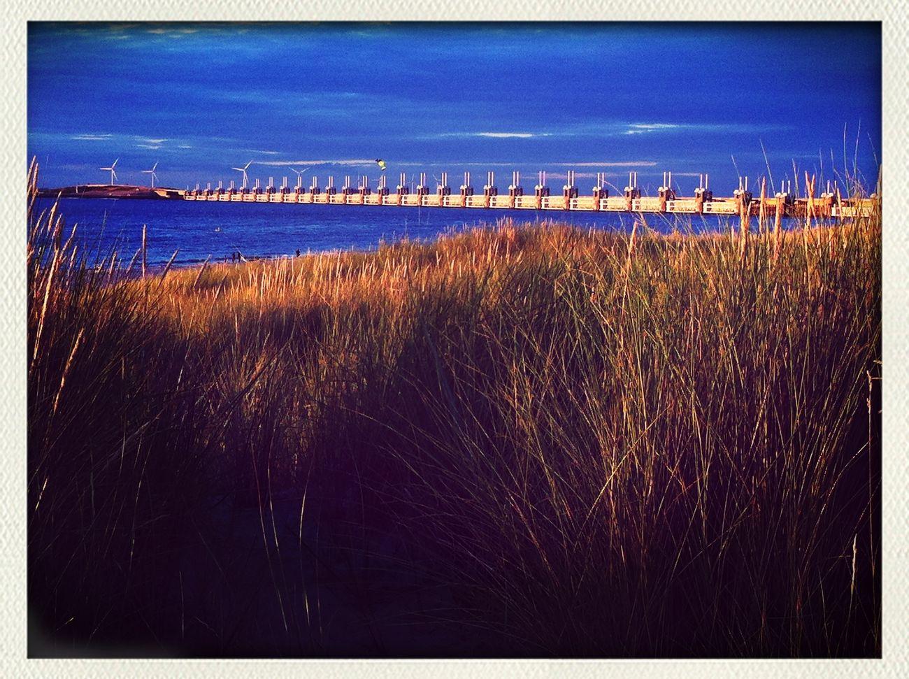 Bright in the sun. Deltawerken Zeeland