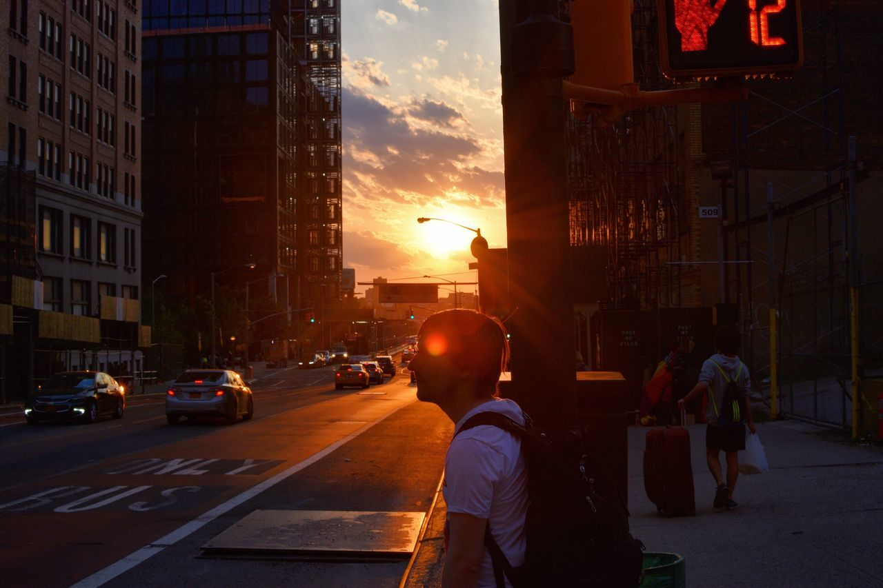 Sunset Architecture Car City Street Building Exterior Men Built Structure Land Vehicle Real People Sky Outdoors People NYC Street Photography NYC Photography NYC Street Silhouette Sunset_collection Sunset Silhouettes Silhouettes NYC Silhoutte Photography Silhouette_collection Enjoying The Moment Street Photography