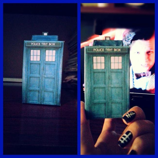My little handmade TARDIS)) Doctor Who Tardis TARDIS Blue Whovians Bowtiesarecool Bowties Are Cool Mattsmith  Eleventh Doctor Handmade