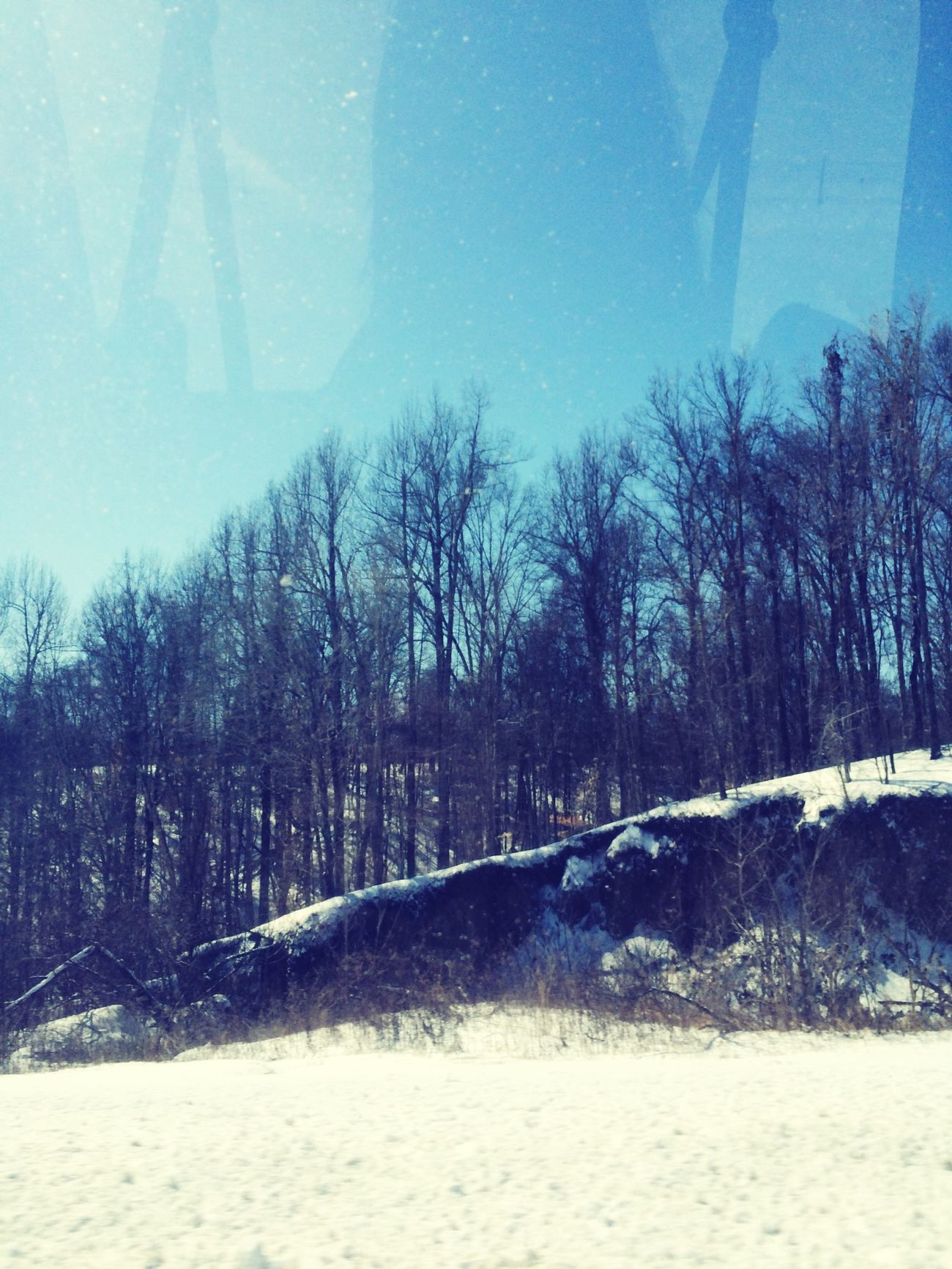 Driving to Chattanooga TN coming from Sikeston MO, takin I55:) Trees Snow Traveling Bored I Miss Him :(  Fun?