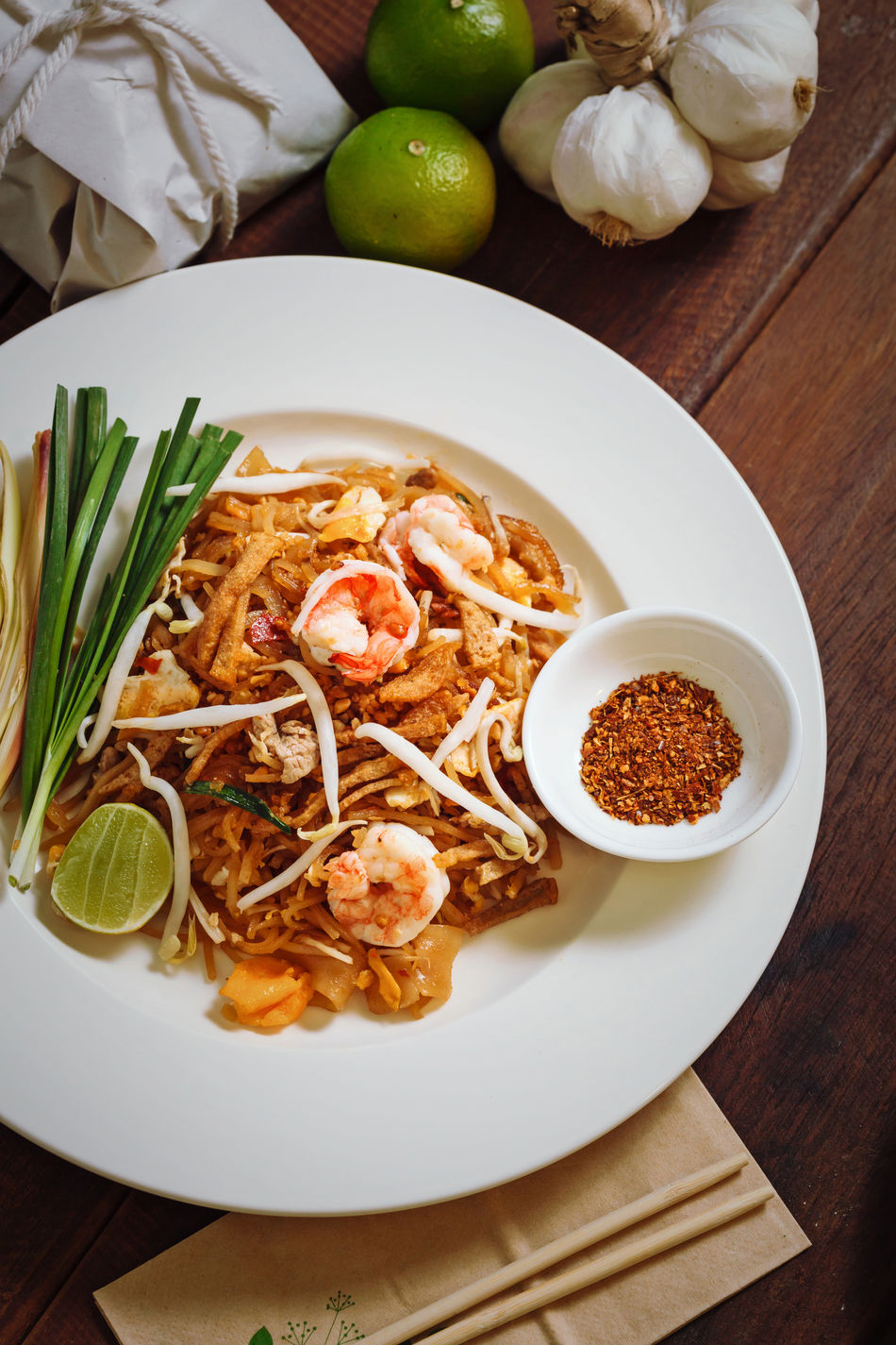 Asian Food Bowl Chili Powder Food Food And Drink Freshness Fried Fried Noodle Grilled Chicken Healthy Eating Indoors  Meal No People Noodle Pad Thai Pad Thai Kung Pad Thai With Shrimp Plate Ready-to-eat Rice Noodle  Serving Size Shrimp Spicy Thai Food ผัดไทย