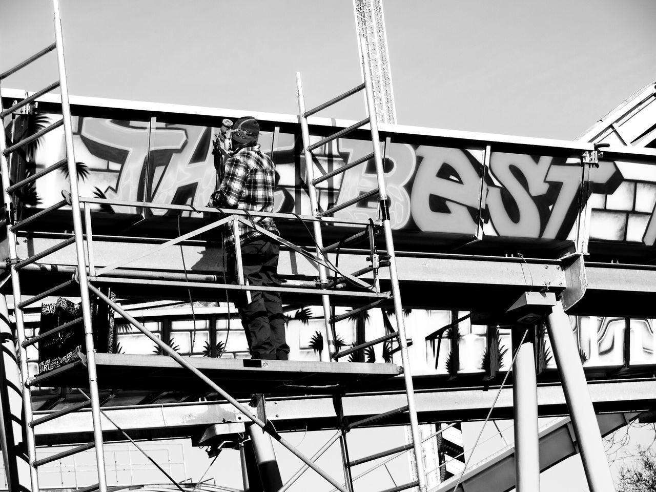 Graffiti Spraying Best  Urban Art Vienna Blackandwhite