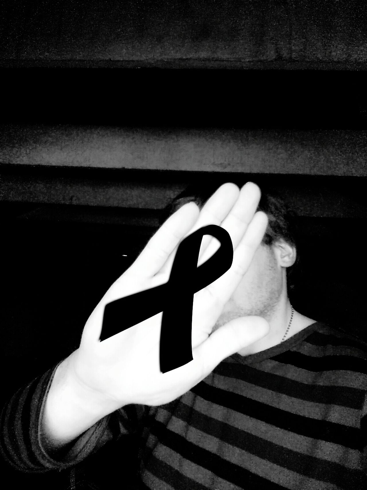 Black Ribbon Hello World Deposterz Blackandwhite France USA