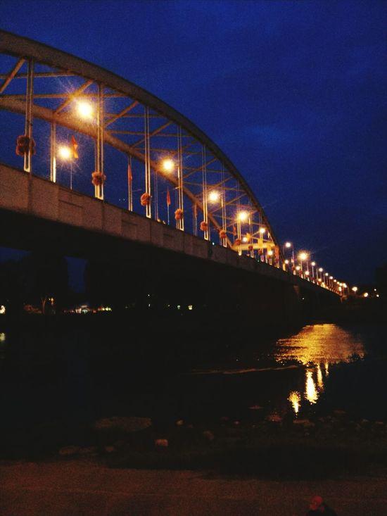 Hungary Szeged Szegednight Bridge River Citylights Nightphotography Architecture Bridgephotography