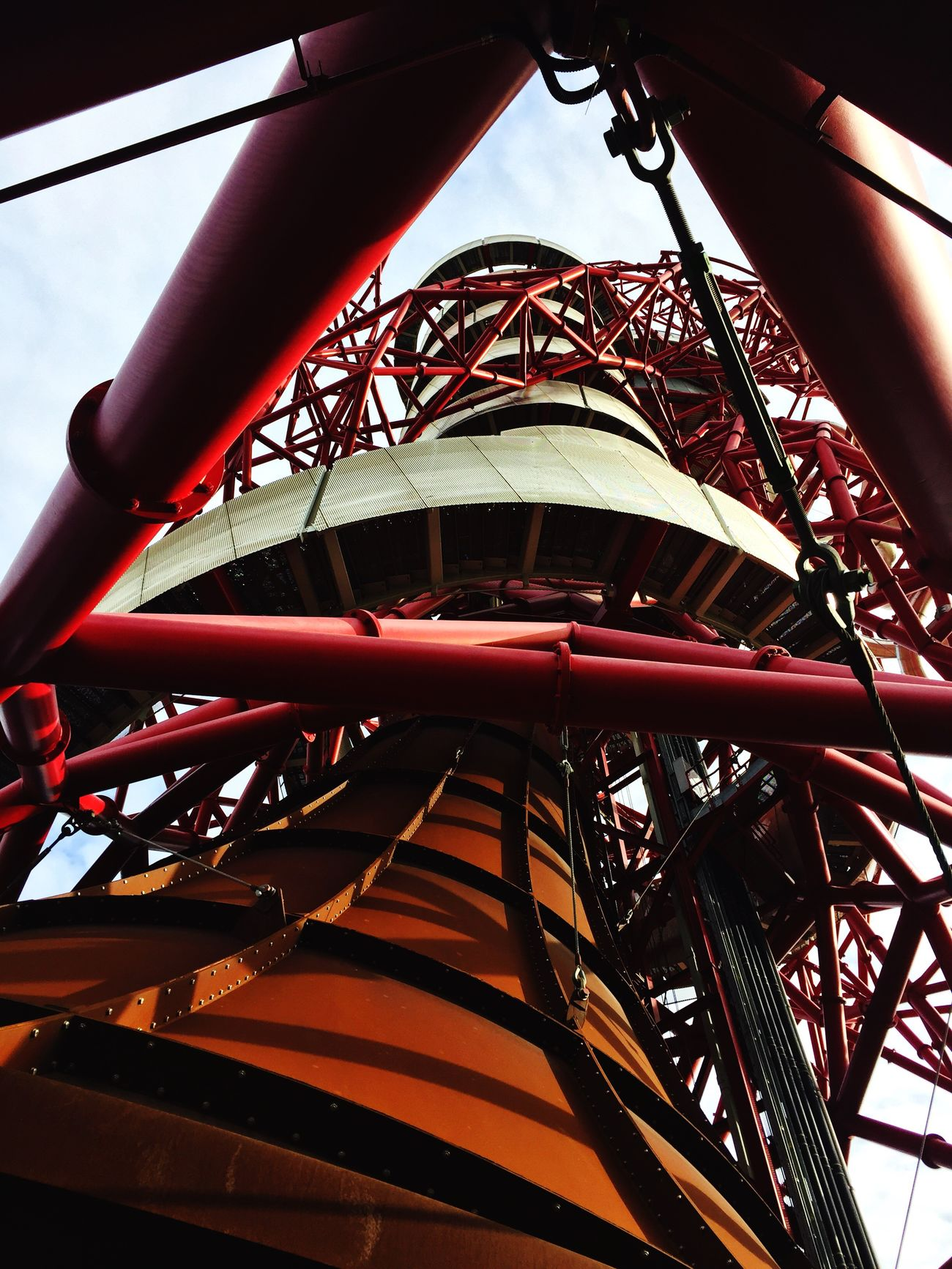 Low Angle View Industry Red Built Structure Day Outdoors Amusement Park Ride Amusement Park No People Sky Architecture Technology Water Slide London Olympic Olympic Park