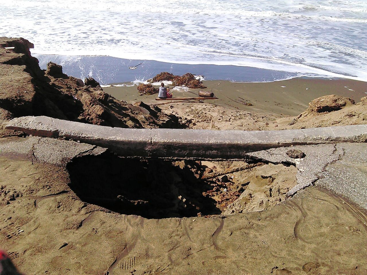 Water Sunlight Nature Outdoors Day Real People Beach Beauty In Nature Horizontal Animal Themes Sky Ocean Photography Social Issues Coastal Erosion El Niño Ocean Beach San Francisco Perspectives On Nature