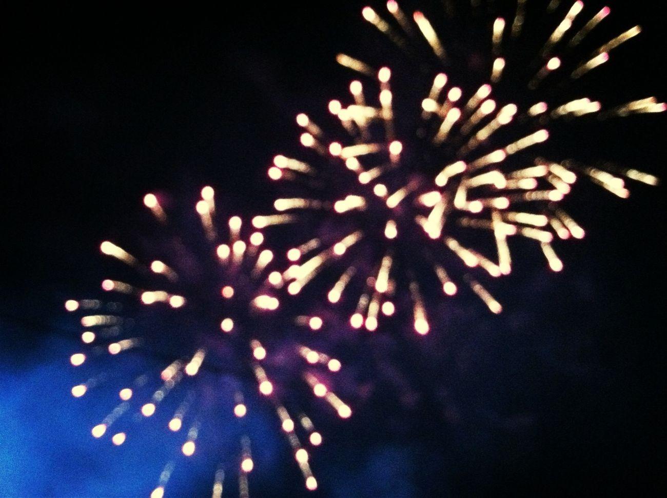 Bokeh Fireworks HDR Outdoors