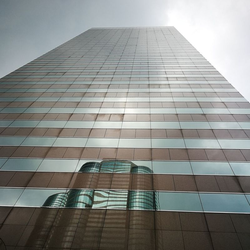 Low Angle View Building Exterior Skyscraper Tower Outdoors Architecture City Reflection