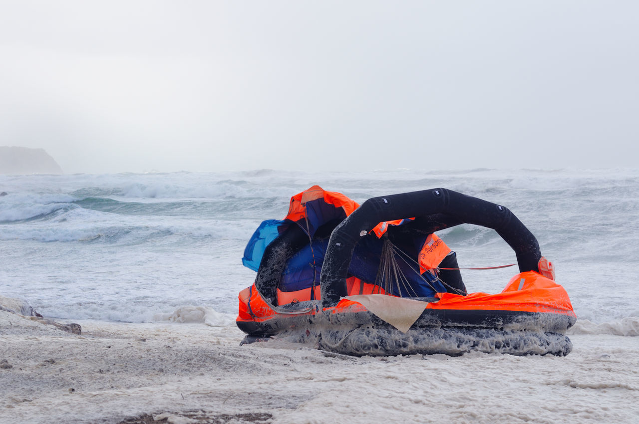 Adventure Bad Weather Beach Camping Cruise Day Foam Hurricane Immigration Landscape Lifeboat Nature Outdoors People Scary Weather Sea Storm Strong Wind Superstorm Tender Vacations