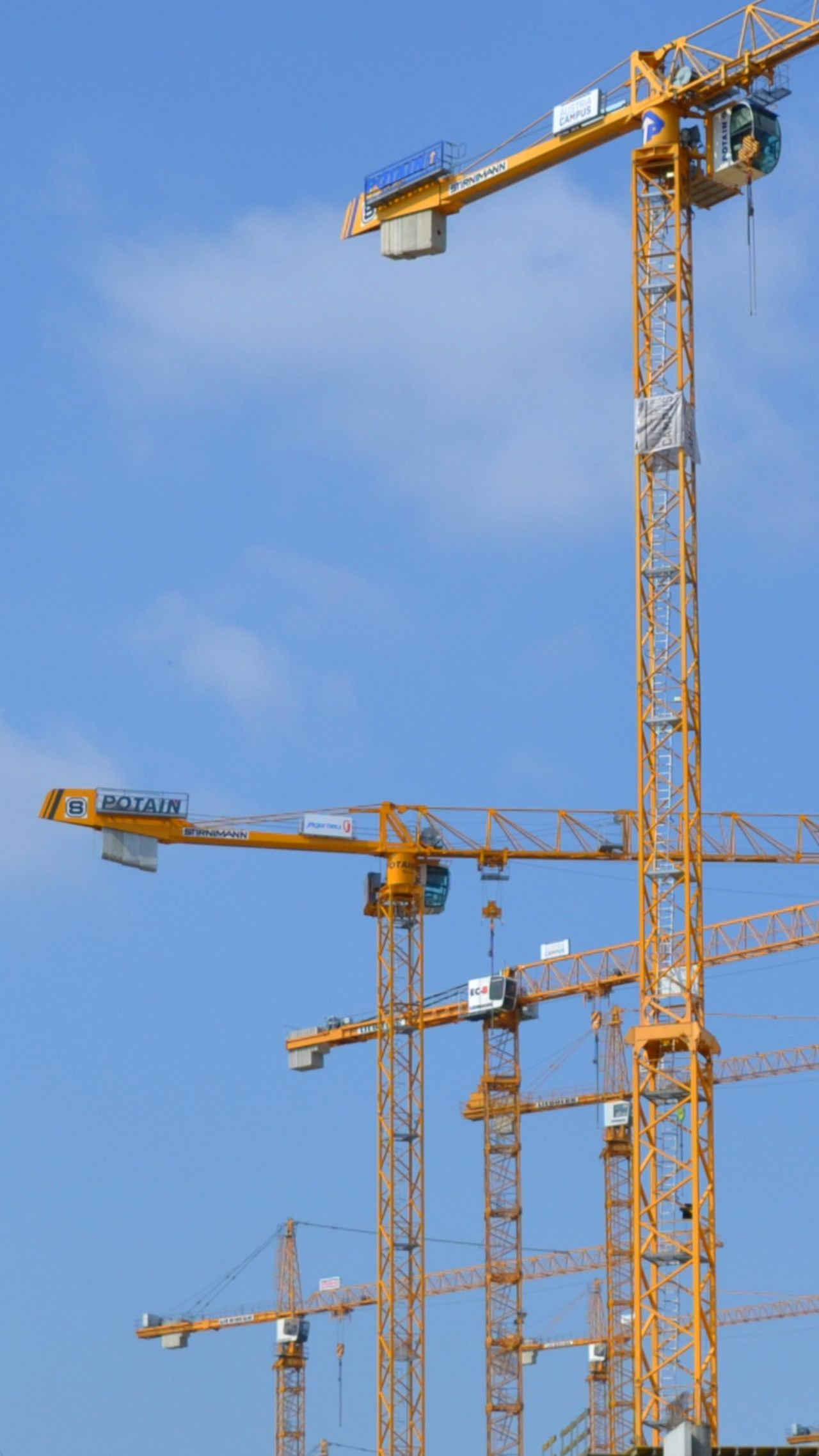 Crane Yellow Building Buildings & Sky Built Structure Crane Truck Cranes And Construction Craneporn Cranes BuildingPorn Crane - Construction Machinery Machine Cranespotting Machine Part Machinery Art Sky