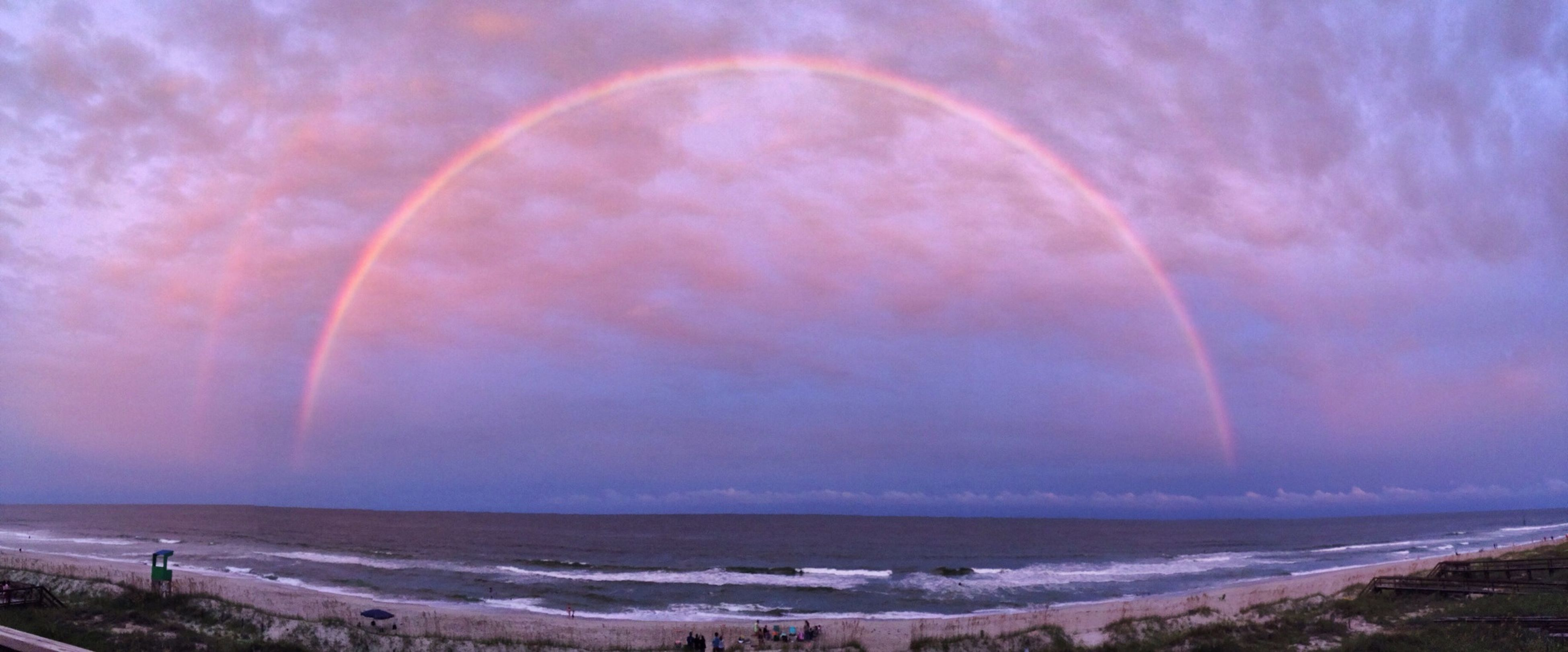 rained all week and stopped for a short while to show us this beauty Doublerainbow Beach First Eyeem Photo