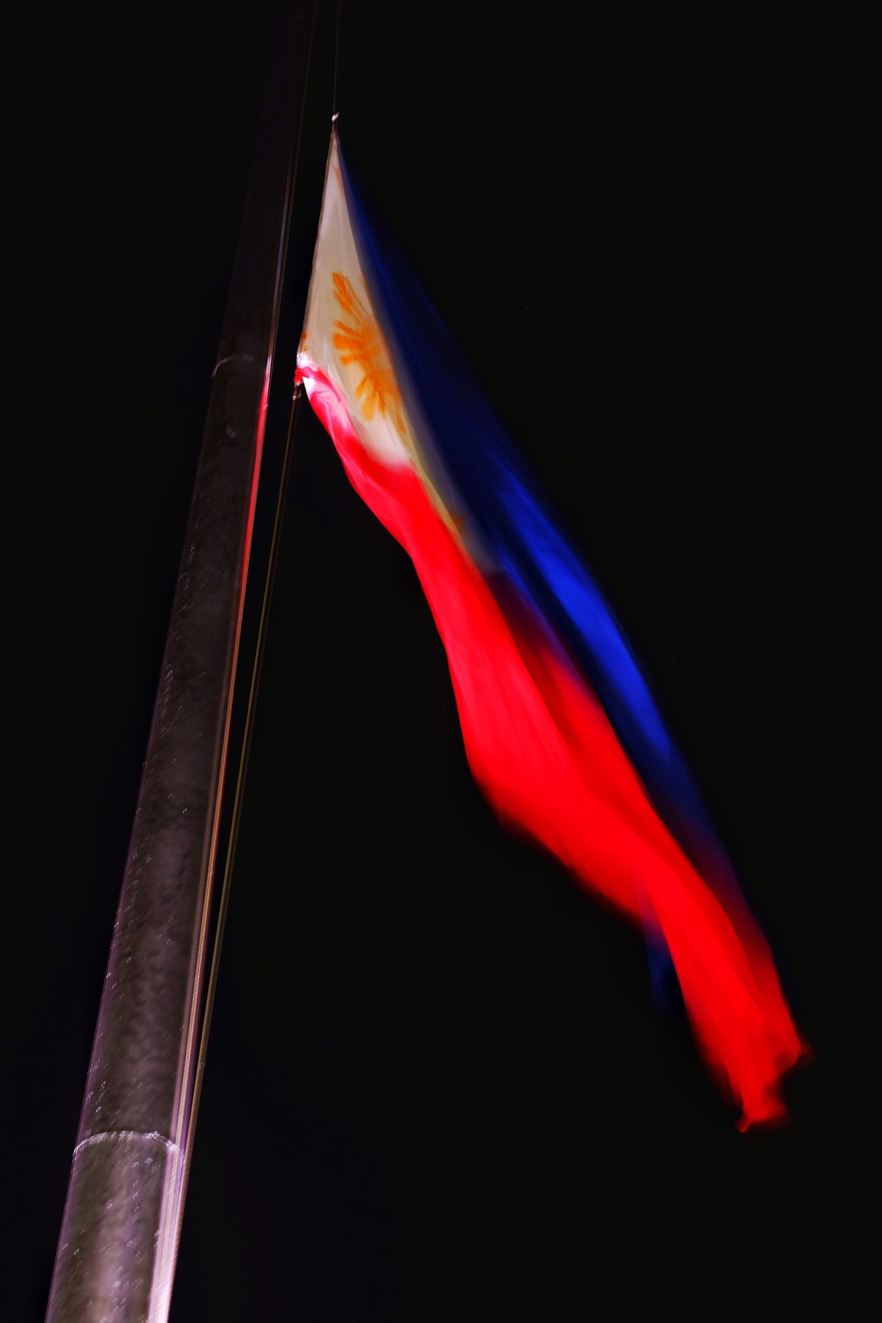 Pilipinas. Patriotism Pride Black Background Flag Red FUJIFILM X-T1 Eyeem Philippines Eyeem Album Eyeem Philippines Album Fujifilm_xseries Freedom Night Philippines Xseries EyeEm Gallery Eye Em Around The World EyeEm Best Shots Philippine Flag Freed Resist