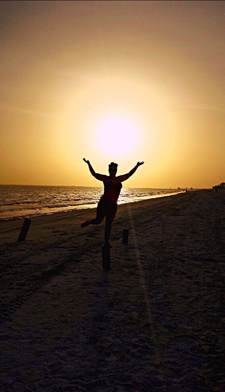 People And Places Sunset Beach Silhouette Arms Outstretched Tranquil Scene Arms Raised EyeemPhotos This Week On Eyeem EyeEm Best Shots EyeEm Fresh On Eyeem  Check This Out EyeEm Gallery EyeEmBestPics EyeemShot Eyeemphotography EyeEm Nature Lover EyeEmPortraits EyeEm Masterclass EyeEm Best Shots - Nature
