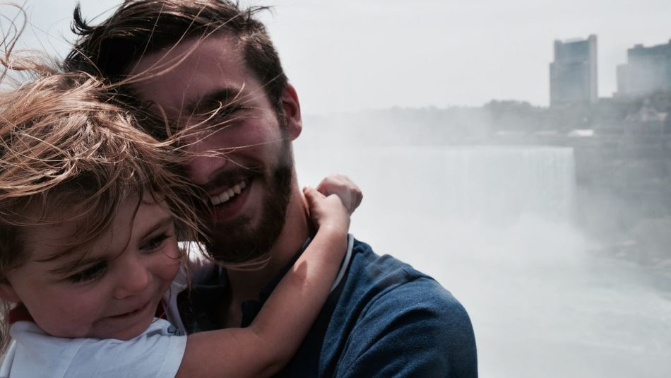 -Niagara- Niagara Niagara Falls Togetherness Outdoors Innocence Portrait Eyeem Best Portrait Up Close And Personal Ecstasy Enjoying Life Waterfall Waterfront Two Is Better Than One