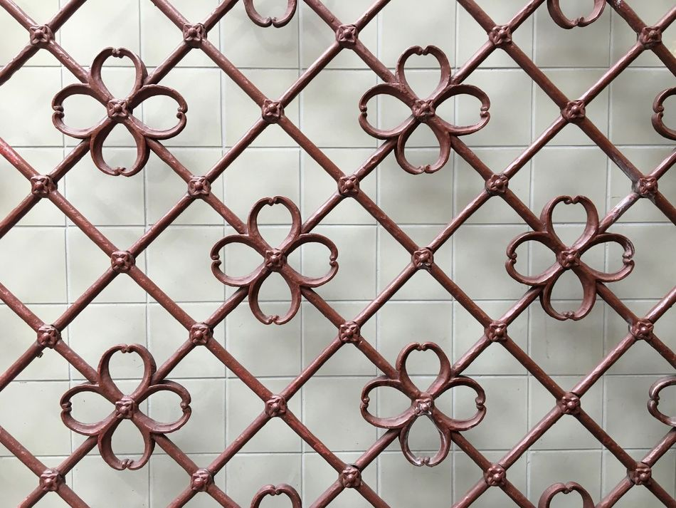 something I pass a hundred times a year and recognized in it's simple beauty for the first time Backgrounds Close-up Day Fence Fences & Beyond Full Frame Geometric Lines And Shapes No People Ornaments Pattern Pattern, Texture, Shape And Form Patterns & Textures Protection Simplicity Wall
