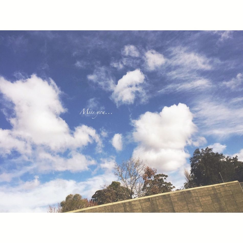 I see you☁️❤️ Enjoying Life Clouds And Sky Sunny Day Instamoment Wintermoments Sydney Iphoneography Happy With This View I Miss You EyeEm Nature Lover Love