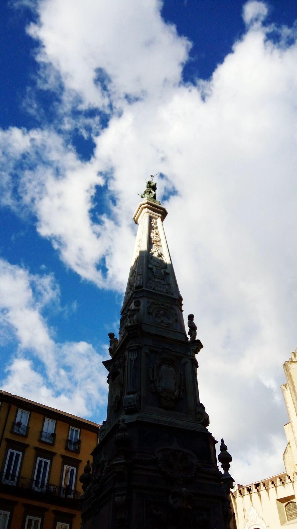 Sky Travel Destinations Architecture Tourism Built Structure No People Napoli Naples Piazza San Domenico Guglia