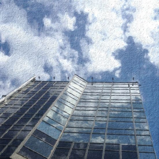 Jeans Sky. Sky Reflection Drawing ArtWork Impressionism Painting Art Moscow Russia россия Jeans