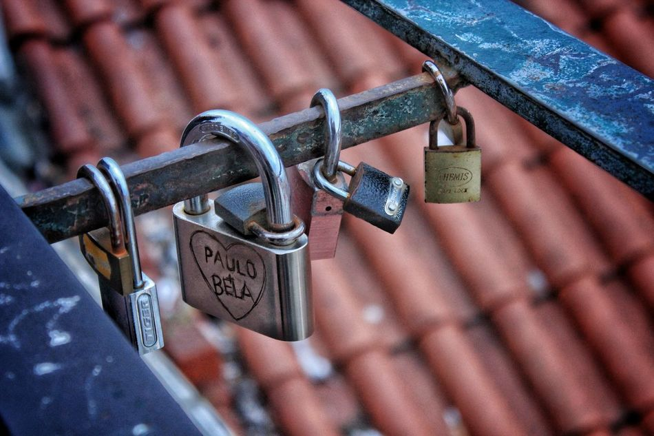 Padlock Lock Security Metal Safety Protection Love Lock Hanging Close-up Luck Love Chain No People Hope - Concept Day Outdoors First Eyeem Photo