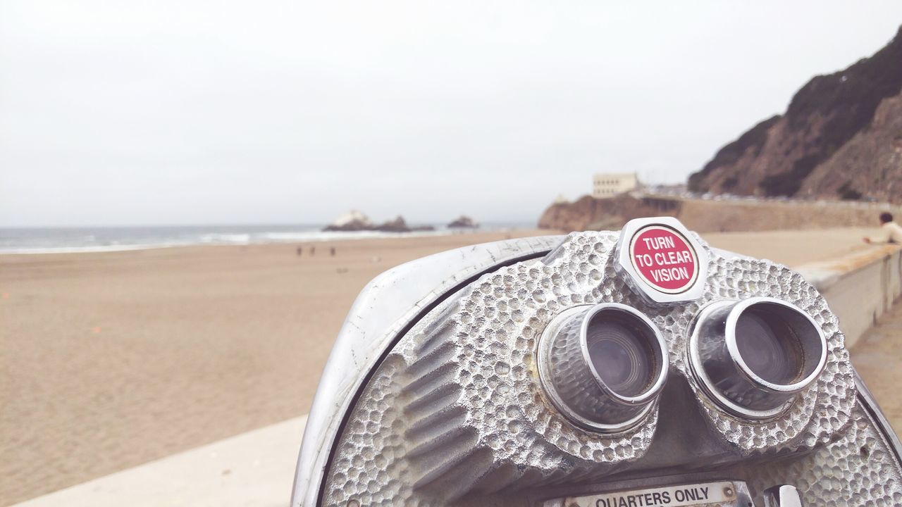 Ready to see the world through a new lens. Viewfinder near Seal Rocks in San Francisco, CA. Enjoying Life Change Of Perspective Pacific Coast San Francisco California Beach Photography Focus Traveling On The Coast Improved Eyesight Augmented Reality Focus On Foreground Object At Beach Adventure Club Fine Art Photography Summer Beach Fun Finding New Frontiers Live For The Story