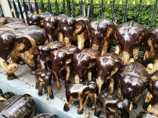 Scrupture Elephant Animal Themes Warship Religion Religious  Belief Faith Buddhism Hindu Hinduism Wood - Material Wooden Handcraft